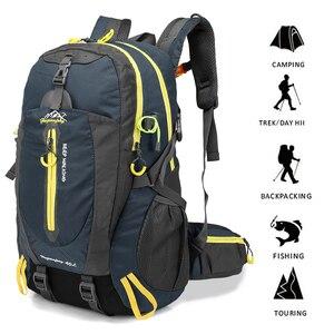 Image 1 - 40l saco de acampamento ao ar livre escalada mochila saco tático à prova dwaterproof água para caminhadas escalada trekking caça das mulheres dos homens sacos de desporto