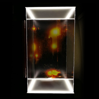 1/6 Action Figure Display Case Dustproof Acrylic Showcase Box With Lights For HT Hottoys Iron Man MK44