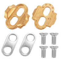 2PCS Durable Bicycle Pedal Cleats Easy Install Guard With Screws Professional Universal Brass Cycling Outdoor For Crank Brothers