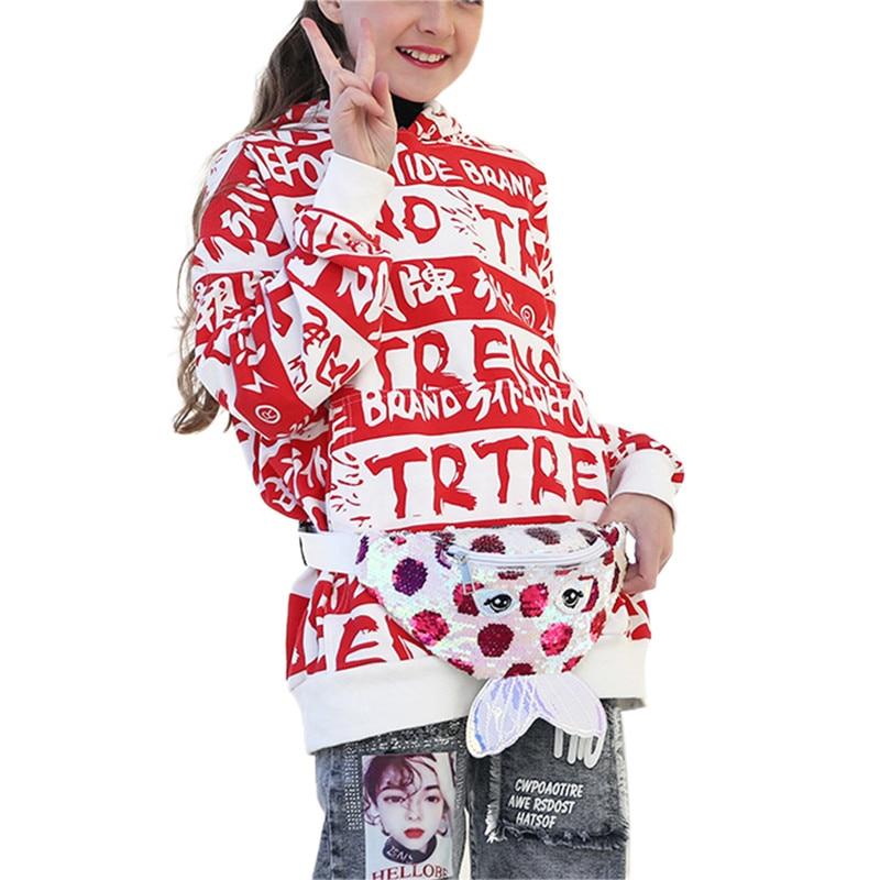 Baby Girl Kids Fashion Sequins Waist Bag Cross Body Chest Bag Purse Mini Bag