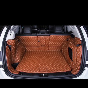 lsrtw2017 for jeep compass leather car trunk mat cargo liner 2016 2017 2018 2019 accessories rug carpet interior accessories