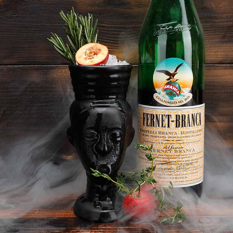 280ml Ceramic Tiki Mug Creative Porcelain Beer Wine Mug Cup Bar Tool