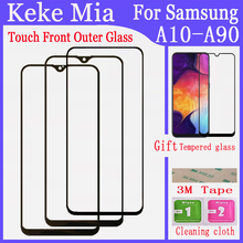 Mobile Phone LCD Front Outer Glass For Samsung Galaxy A10 A20 A30 A40 A50 A60 A70 A80 A90 Touch Screen Front Glass Repair the wheel level a2