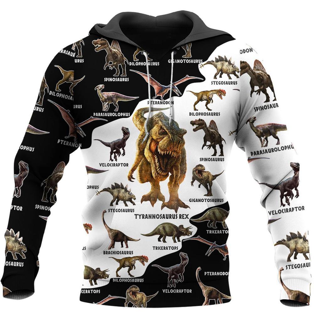 Dinosaur pattern 3D All Over Printed Hoodie For Men/Women Harajuku Fashion Animal hooded Sweatshirt Casual Jacket Pullover KJ011