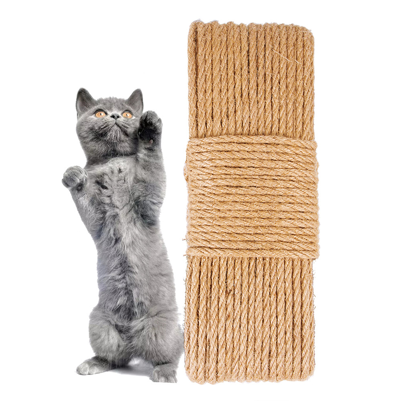 Multi-Function Cat Hemp Twine Sisal Natural Jute Rope Claw Grinding Toy Pet Fashion Scratcher Accessories Supply Durable Useful