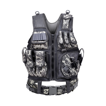 Tactical Vest Military Combat Armor Vests Mens Tactical Hunting Vest Army Adjustable Armor Outdoor CS Training Vest Airsoft 5