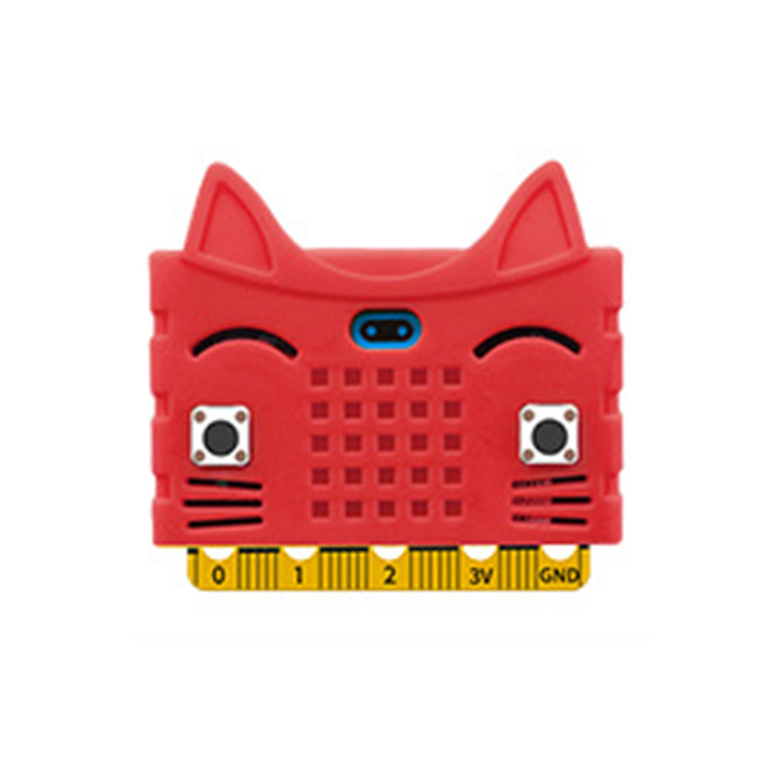 Экологичное уплотнение/тигр/в форме кота силиконовый защитный корпус Крышка корпуса для Micro: Плата расширения бита Bue/красный/оранжевый - Цвет: 12