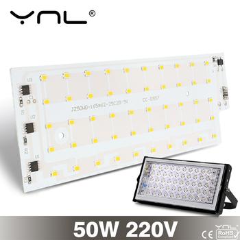 Lampa Led 50W Smart IC Floodlight SMD 2835 Chip 220V długa na świeże powietrze czas serwisowy DIY lampa z żarówką LED światło halogenowe oświetlenie punktowe tanie i dobre opinie CN (pochodzenie) Prostokątne SMD 2835 Led Chip AC 220V-240V 50 000 hours Cool White Warm White 180°
