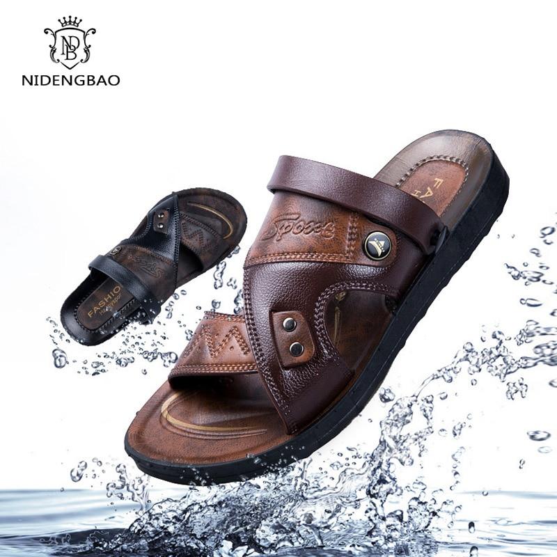 2020 New Summer Sandals Men Outdoor Casual Men Shoes Non-Slip Breathable Beach Sandals Two Ways Wearing Shoes Sandalias Hombre