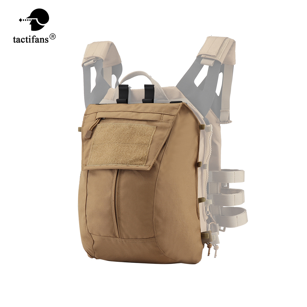 Tactical Zip-on Panel Pack Military Airsoft Molle Plate Carrier Zipper-on Backpack Bag For AVS JPC 2.0 CPC Emerson Vest EM7400