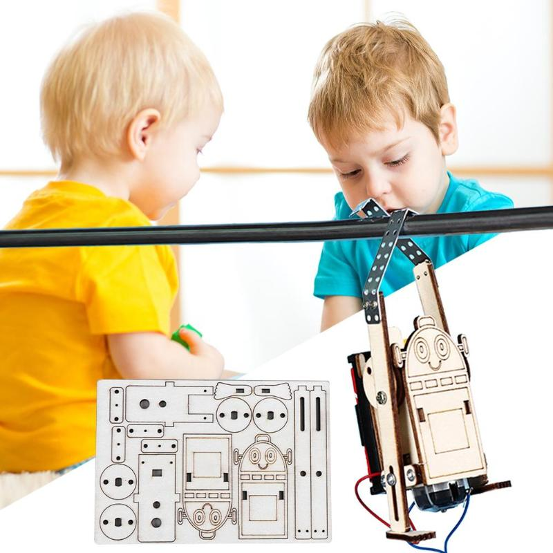 DIY Children Building Kits Robot Rope Climbing Model Kids Science Discovery Educational Experiments Kit Model Toys