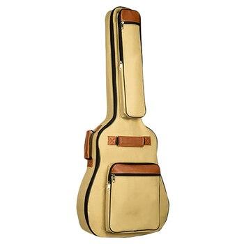 Bolsa para guitarra de 41 pulgadas resistente al agua Thicken 8Mm, funda acústica Folk, mochila para guitarra con bolsillos y correas para el hombro