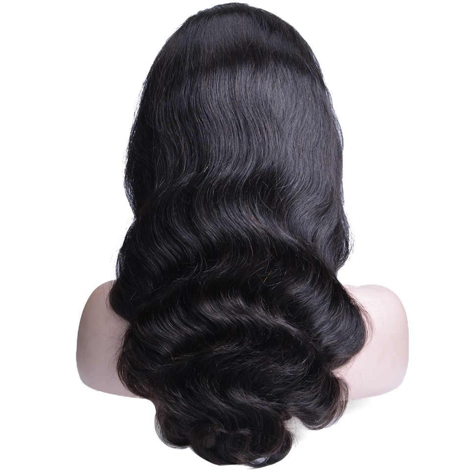 Парики из натуральных волос на кружеве, предварительно выщипанные 13X4, бразильские волнистые волосы на кружеве с детскими волосами для черных женщин, не Реми
