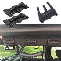 1 pc caminhão do carro interior rolo barra telhado alça de mão para jeep wrangler jk carros porta telhado alças acessórios automóveis