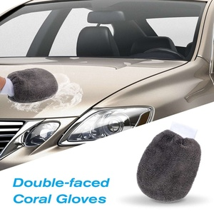 Image 4 - 9ชิ้น/เซ็ตล้างรถทำความสะอาดเครื่องมือฟองน้ำผ้าเช็ดตัวถุงมือแปรงApplicatorหนาทำความสะอาดPad