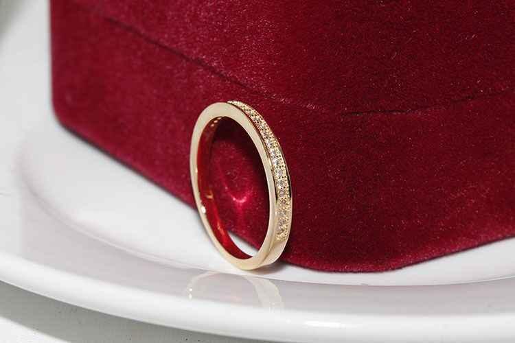 קלאסי נשי מבטיחים טבעת 925 כסף סטרלינג פייב AAA CZ אבן נישואים טבעות לנשים הצהרת המפלגה תכשיטי brincos