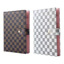 Case Stationery Cover Planner Notebook Schedule-Book Loose-Leaf A6 Journal Lattice High-Grade