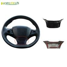 1 قطعة ABS لمعان الأسود عجلة القيادة ملصق التفاف غطاء الكسوة اكسسوارات لبيجو 308 SW T9 2014 2019 3008 2016 2017 2018