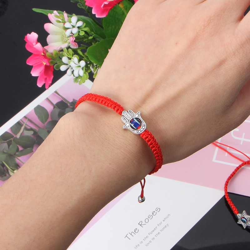 Lucky Kabbalah Red String Thread Hamsa Bracelets Blue Turkish Evil Eye Charm Women Handmade Fatima Friendship Jewelry 5