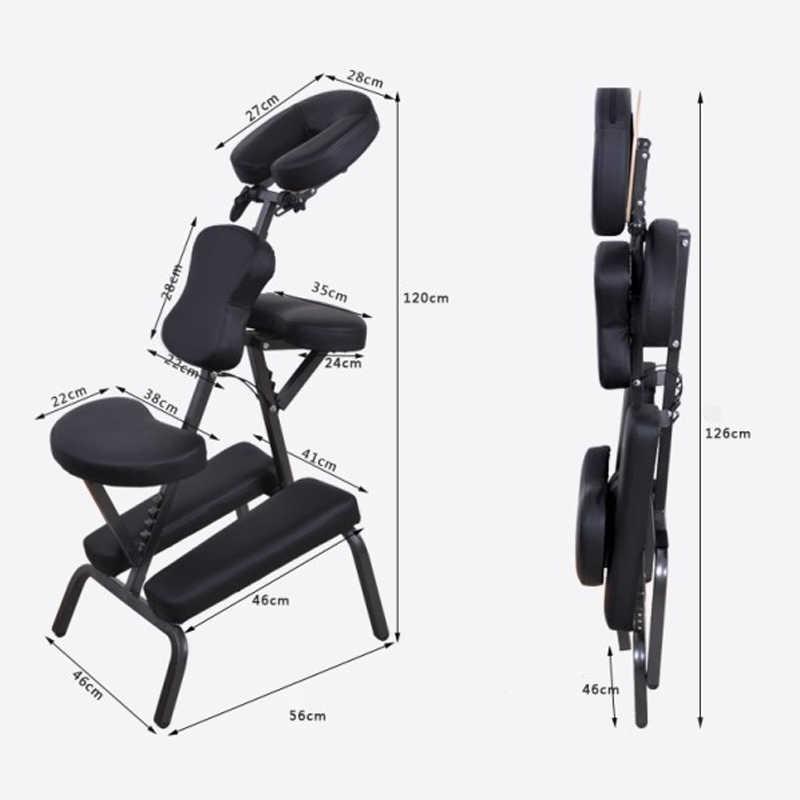 Ticari salon mobilyaları taşınabilir masaj koltuğu masaj masa SPA katlanabilir dövme koltuğu beyaz siyah deri ve demir metal