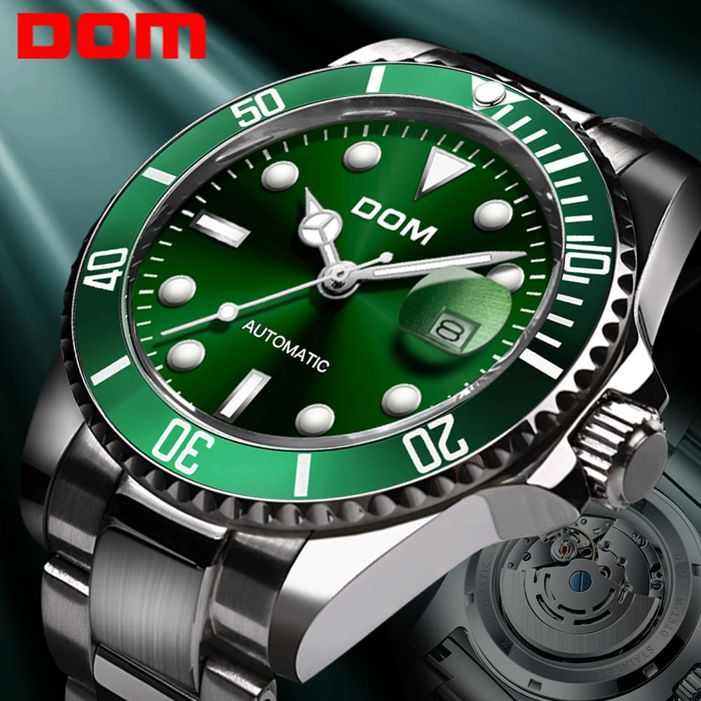DOM Black Watch Mechanical-Wristwatch Stainless-Steel Automatic Brand Luxury Dom-Design