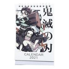 Desk-Calendars Cartoon-Figure-Planner Anime Daily-Schedule Kimetsu for Demon Slayer No-Yaiba