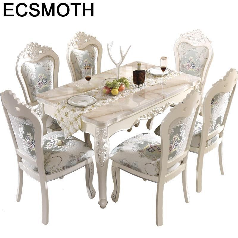 Eettafel Juego Comedor Sala De Jantar A Manger Moderne Meja Makan Marmol Wood European Tablo Mesa Bureau Desk Dining Table