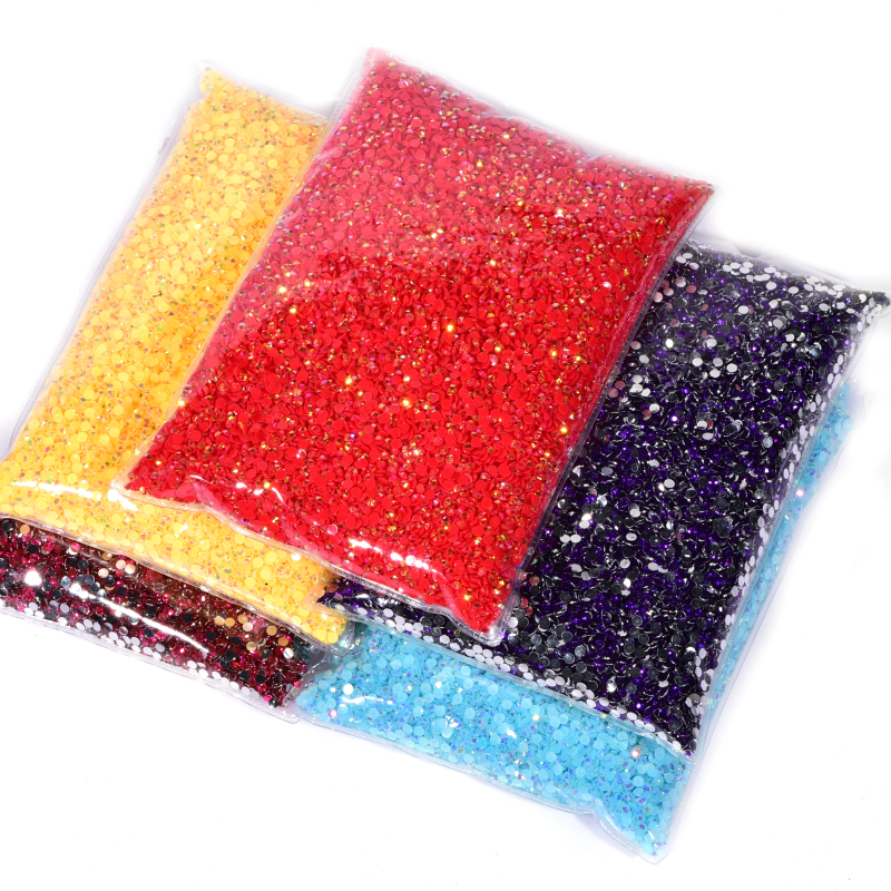 Oleeya Jelly Nail Art Non hot fix rhinestones Resin Rhinestones (2)