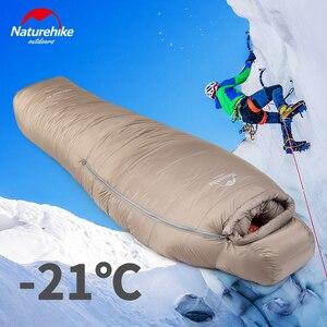 Image 5 - 2020 neue Naturehike  21 °C Gans Unten Schlafsack 750FP Professional Outdoor Camping Wandern Warme Wasserdichte Mummy Schlafsack