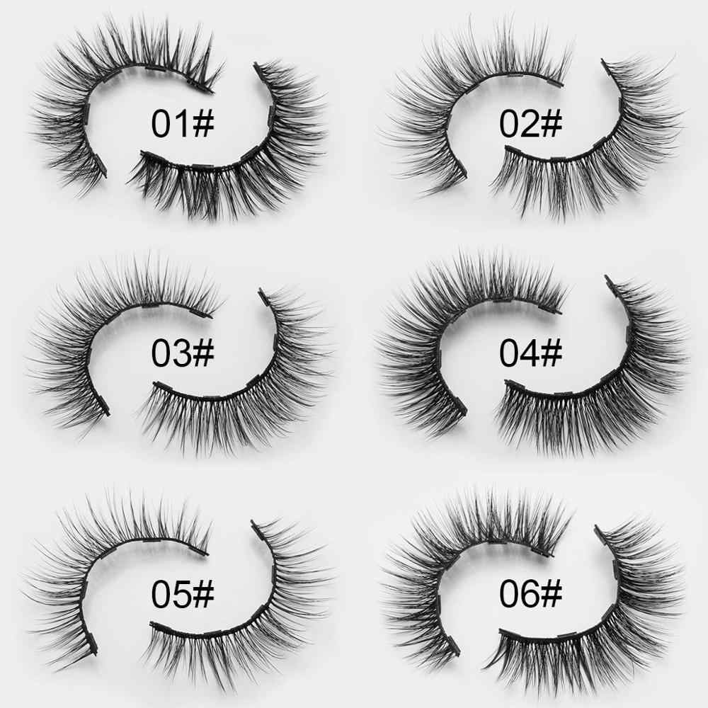 Commercio all'ingrosso 10/20/30pcs 3 Pairs Magnetica Eyelashs set Impermeabile di Lunga Durata Estensione Del Ciglio commercio all'ingrosso Magnetico Ciglia set