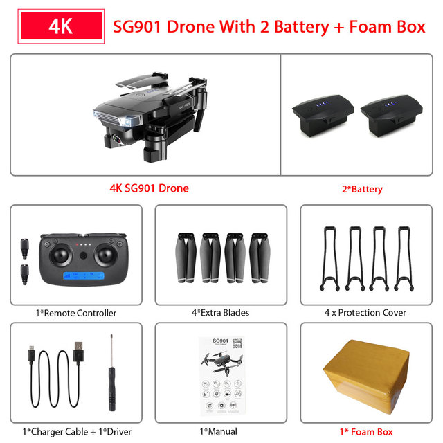 SG901 4K 2B Foam Box