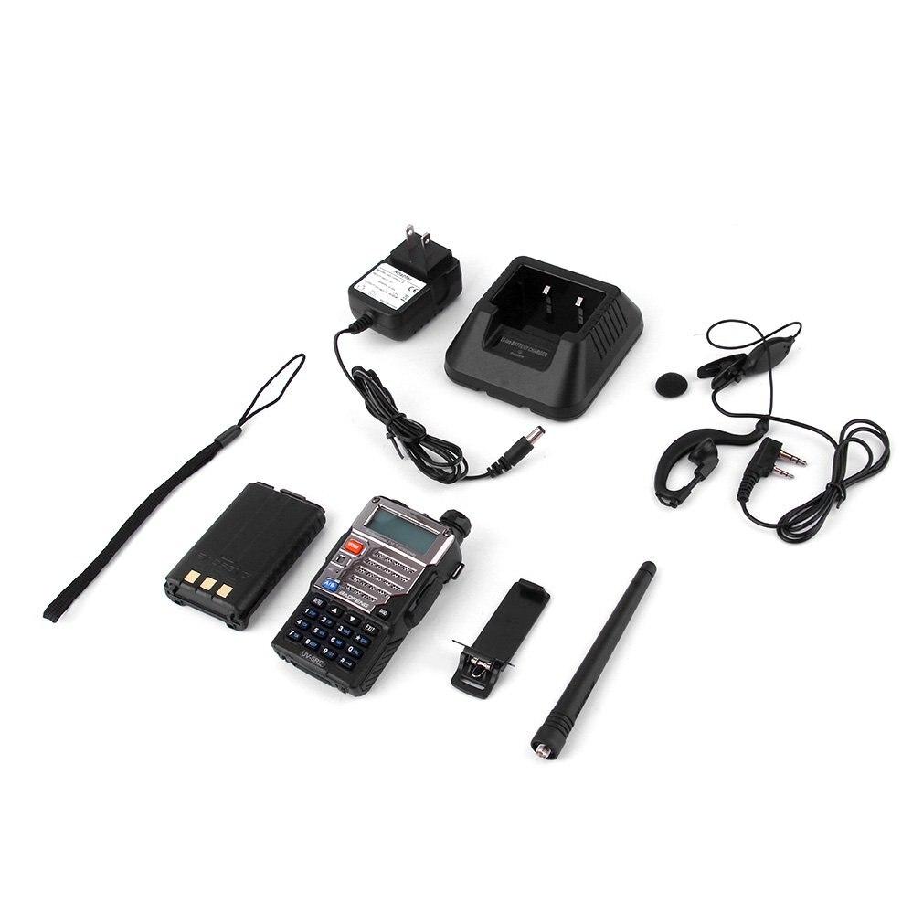 BF-UV-5RE Walkie Talkie 5W 128CH FM VOX DTMF Two-Way Radio US Adapter