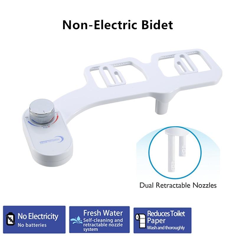 Non Electric Bidet Toilet Seat Bidet Attachment Self Cleaning Nozzle Fresh Water Bidet Sprayer Washing Hot Cold Water Bidets Aliexpress