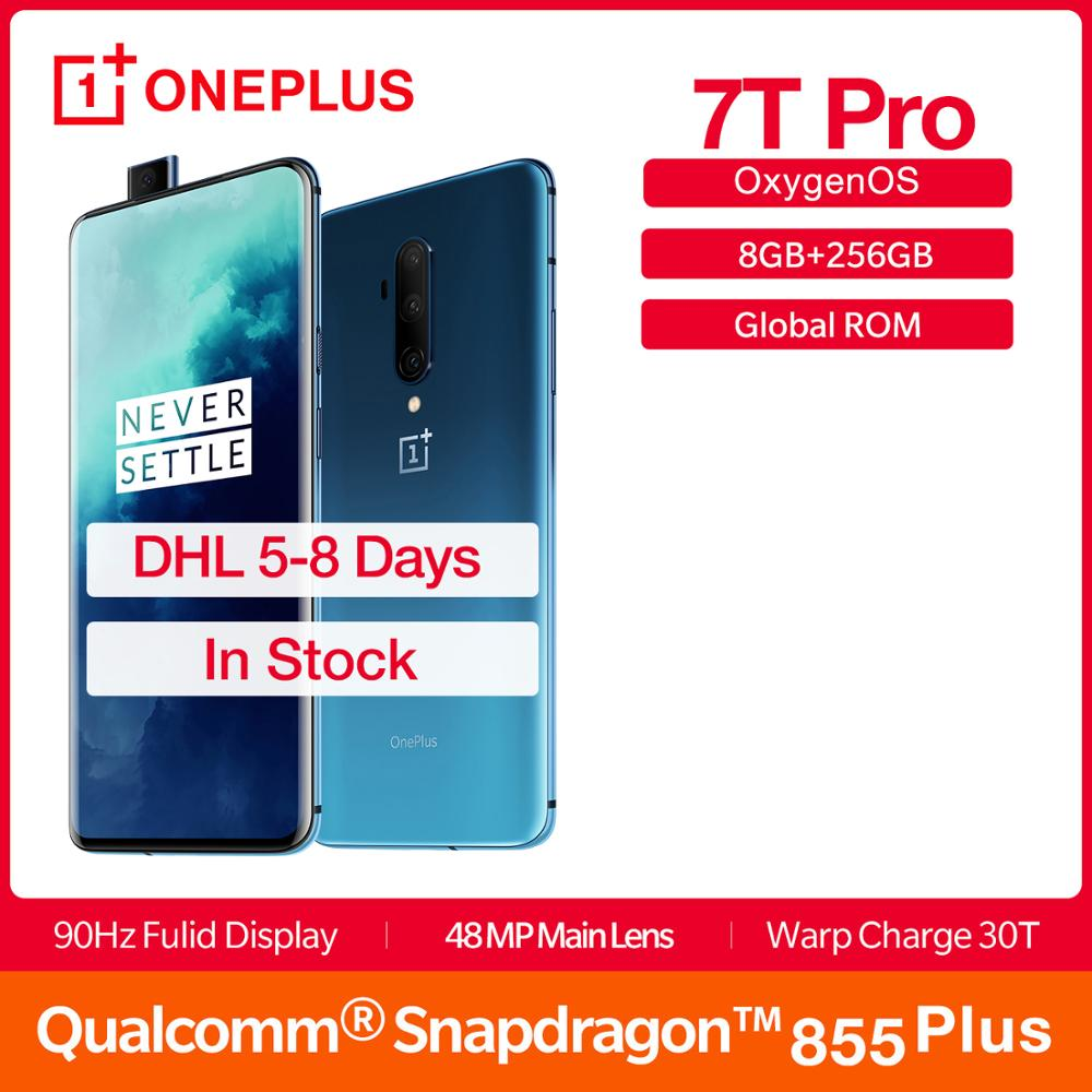 Global ROM OnePlus 7T Pro 8GB 256GB Smartphone Snapdragon 855 Plus 6.67