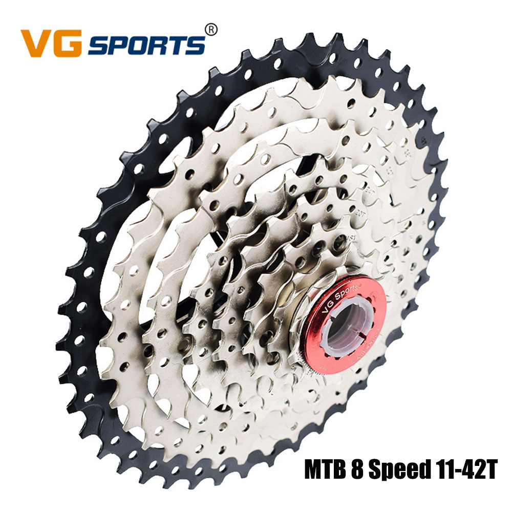 VG sports MTB Sprocket Freewheel Cassette 8 Speed 42T Bicycle Flywheel for Shimano Sram Fixed cdg cog cdg 8 Velocidade 11 42T in Bicycle Freewheel from Sports Entertainment