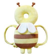 Walker Headrest Newborn Anti-Drop Baby Children's Cartoon Cute Bee with Gift Flannel