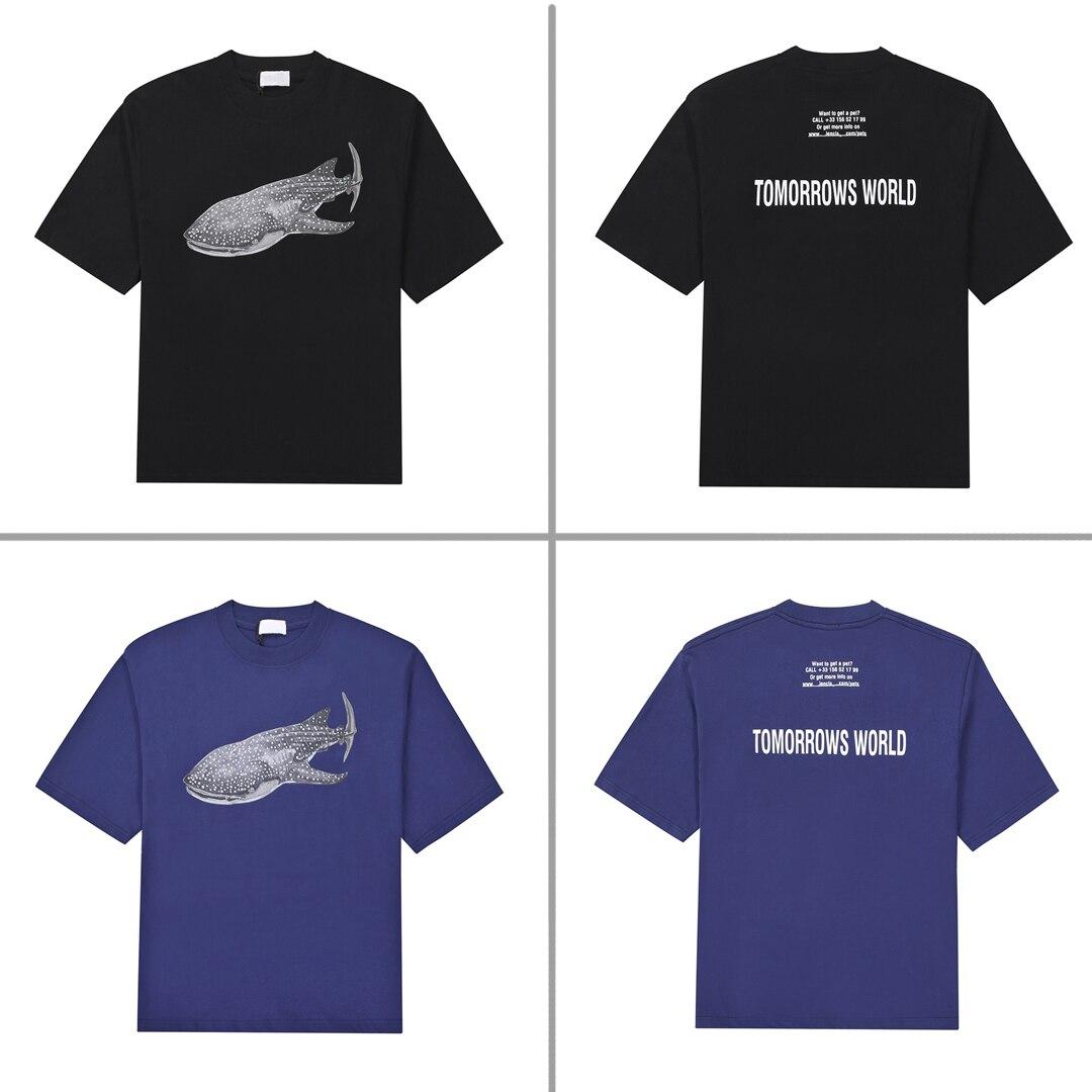 2021 Spring/Summer Men's T-shirt Short Sleeve Loose Cotton Oversized T-shirt Anime Luxury Men's and Women's T-shirt