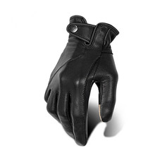 Leather motorcycle gloves sheepskin gloves winter motorbike gloves retro riding gloves anti-fall touch screen moto gloves cheap Unisex Breathable