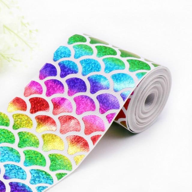 Cinta de grogrén de unicornio para envolver regalos cumpleaños decoración para fiesta de boda DIY lazo manualidades lazos para el cabello corte de costura