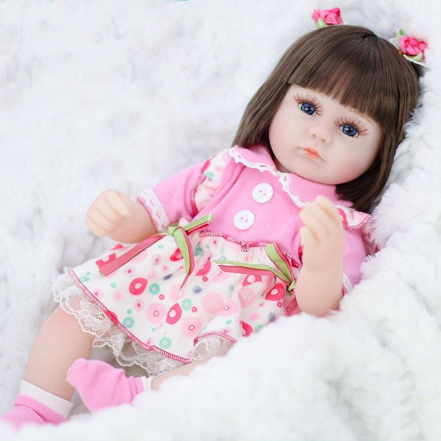 42cm Silikon Reborn Puppe Simulation Baby Bebe Puppen Reborn Weiche Kleinkind Baby Spielzeug Für Mädchen Kind Geburtstag Weihnachten Geschenke