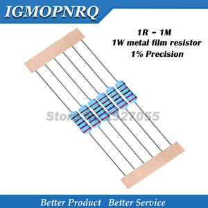 10pcs 1W Metal film resistor 1% 1R ~ 1M 2R 10R 22R 47R 100R 330R 1K 4.7K 10K 22K 47K 100K 330K 470K 1 2 10 22 47 100 330 ohm new(China)