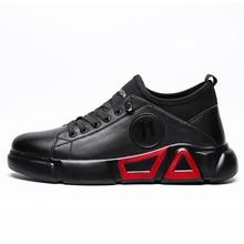 Mens Shoes Casual Flat Sneakers Footwear Black High Top For Men Tenis Masculino 3#15/15D50