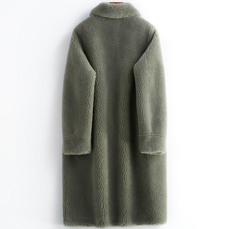 Winter Real Fur Coat Women Suede Liner Long Jacket Korean Fashion Clothes 2020 Thick Warm Sheep Shearing Coats B19F95447