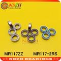 10 шт. высокое качество ABEC-5 MR117ZZ MR117-2RS SMR117ZZ SMR117-2RS 7*11*3 мм 7x11x3 мм миниатюрные тонкие стены глубокий шаровой подшипник - фото