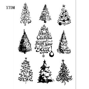 Seal-Roller-Stamp Christmas-Tree Scrapbook-Album/card-Production Transparent Clear-Stamp/silicone