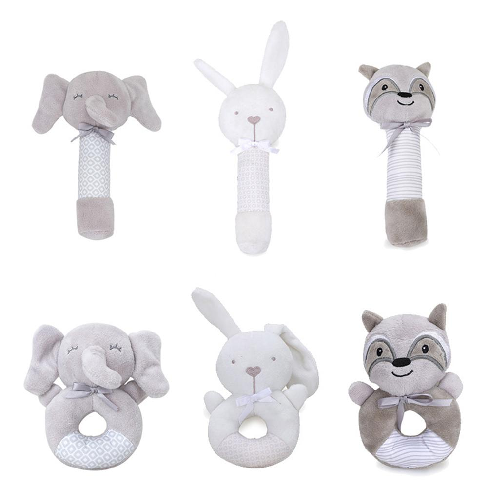 LeadingStar Baby Rattle Cartoon Animal BB Stick Baby Plush Bell Toy