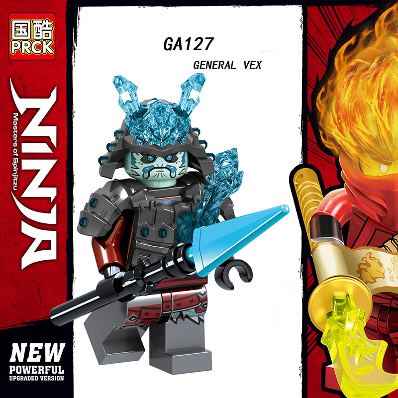 Single Sale Compatible LegoINGlys Ninja Figures Weapon GENERAL VEX ICE EMPERORGA CHAR Bricks Action Toys For Kids Gift Ga123-130