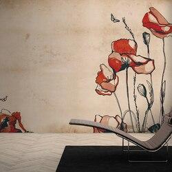 MASAR retro Amerikaanse custom muurschilderingen warme bloemen behang restaurant slaapkamer achtergrond muur papieren Bloem