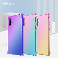 For Samsung Galaxy Note 8/9/10 Gradient Phone Case Silicone Protective Cover For Samsung Galaxy Note 10 plus Note 9 8 Fundas цена и фото