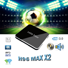 Smart TV box Media Player H96 MAX X2 Android TV Box 8.1 S905X2 H.265 4K Google Store support Netflix Youtube for H96MAX tv boxes smart tv set top box amlogic s905x2 h96max x2 tv boxes 4gb64gb 1080p h 265 android8 1 tv box support youtube netflix tv boxing